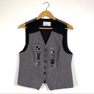 Vintage Mini Houndstooth Vest Waistcoat